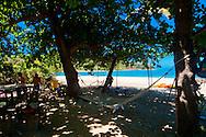 The beach bar area at Mantaray resort, Nanuya Balavu island in the Yasawa group. Fiji.<br /> <br /> To see more on this location: http://www.stayinfiji.com/accommodation/gallery.htm