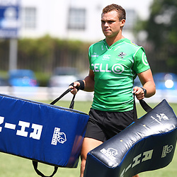 DURBAN, SOUTH AFRICA - FEBRUARY 12: Curwin Bosch during the Cell C Sharks training session at Growthpoint Kings Park on February 12, 2018 in Durban, South Africa. (Photo by Steve Haag/Gallo Images)
