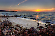 Sunset Over Leeuwin National Park Coastline. Busselton, Western Australia, Australia. 13/02/2013. Photo By Lucas Wroe