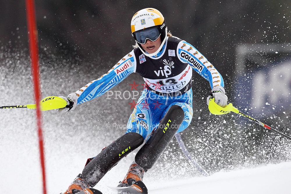 03.01.2012, Crveni Spust, Sljeme, CRO, FIS Weltcup Ski Alpin, Zagreb, Damen Slalom 1. Durchgang, im Bild Frida Hansdotter during Slalom race 1st run of FIS Ski Alpine World Cup at 'Crveni Spust' course in Sljeme, Zagreb, Croatia on 2012/01/03. EXPA Pictures © 2012, PhotoCredit: EXPA/ nph/ PIXSELL/ Slavko Midzor..***** ATTENTION - OUT OF GER, CRO *****