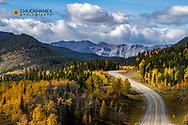 Highway 66 in autumn in Kananaskis Country, Alberta, Canada