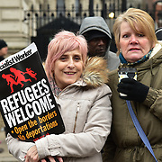 London, UK. 17 March 2018. Thousands assembly at the front of BBC boardcasting house March Against Racism highlight Islamophobia , Grenfell , migrants & refugees, anti-Semitism & the far right, black deaths in police custody, Stop the War and Care4Calais on UN Anti Racism Day to Downing Street, London, UK