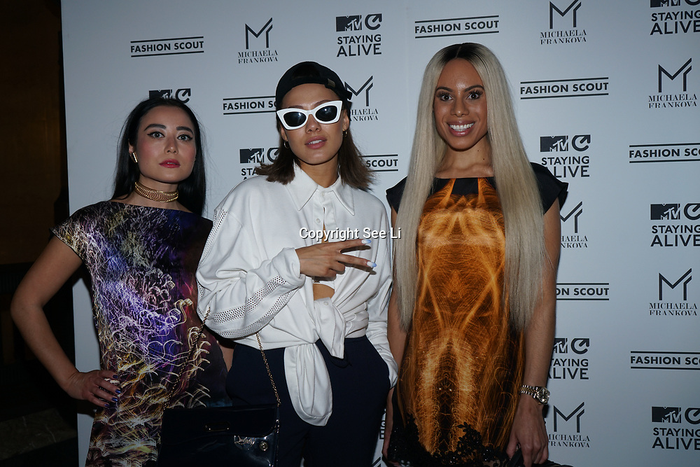 Freemasons Hall, London, England, UK. 15th September 2017. Camilla Destiny and Calista Kazuko singer/songwriter attends Michaela Frankova showcases latest collection at FASHION SCOUT SS18.