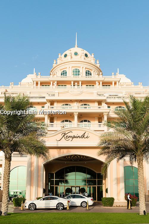 Kempinski Hotel on The Palm Jumeirah artificial island in Dubai United Arab Emirates
