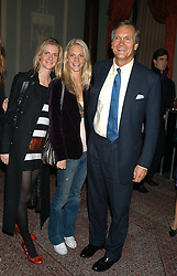 Left to right, sisters CHLOE DELEVINGNE and POPPY DELEVINGNE and their father CHARLES DELEVINGNE at a party hosted by Tatler magazine to celebrate the publication of Lunar park by Bret Easton Ellis held at Home House, 20 Portman Square, London W1 on 5th October 2005.<br />
