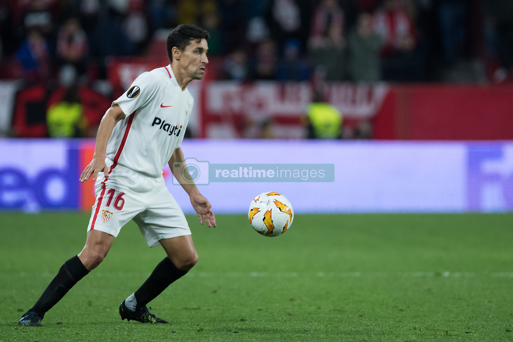 December 13, 2018 - Seville, Andalucia, Spain - Jesus Navas of Sevilla FC during the Europa League match between Sevilla FC and Krasnodar in Ramón Sánchez Pizjuán Stadium (Seville) (Credit Image: © Javier MontañO/Pacific Press via ZUMA Wire)