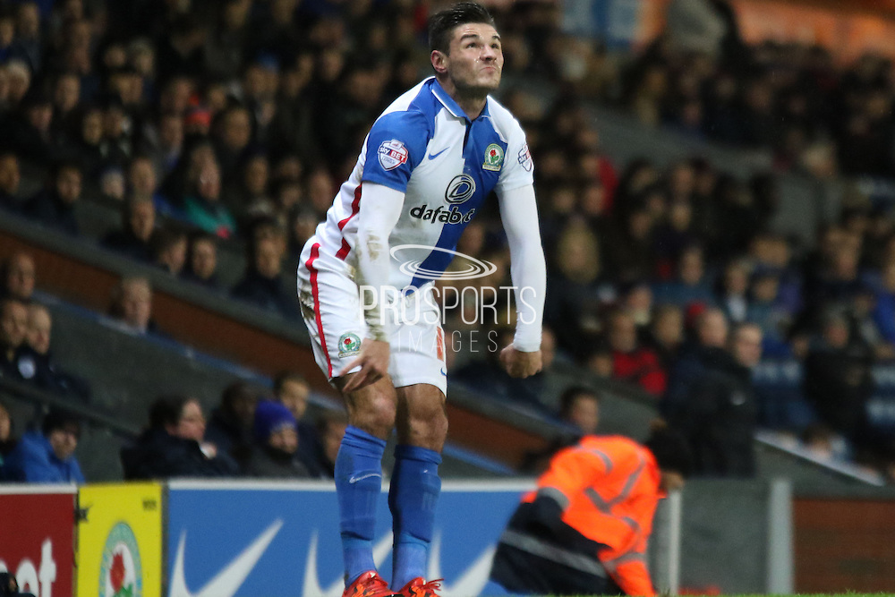 Ben Marshall during the Sky Bet Championship match between Blackburn Rovers and Queens Park Rangers at Ewood Park, Blackburn, England on 12 January 2016. Photo by Pete Burns.