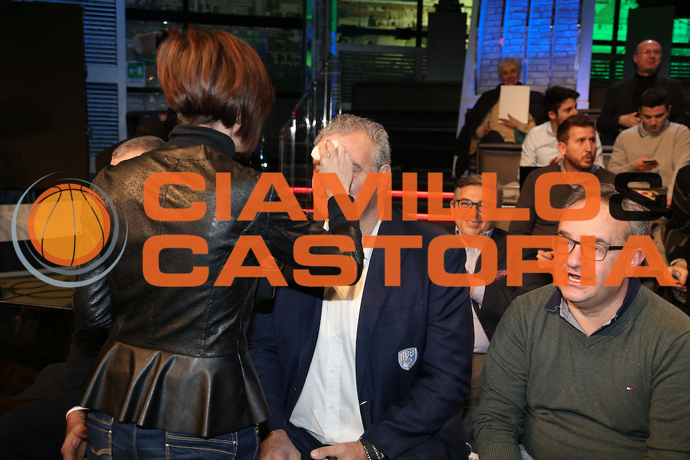 Meo Sacchetti, Presentazione POSTEMOBILE Final Eight 2017 - Rimini 16-19 fabbraio 2017 - studi RAI, Milano 23 gennaio 2017