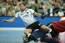 LEIZPIG - WC HOCKEY INDOOR 2015<br /> GER v NED (Semi Final 1)<br /> Netherlands won the semi final<br /> Moritz Furste  stopped.<br /> FFU PRESS AGENCY COPYRIGHT FRANK UIJLENBROEK