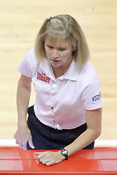 17 October 2014:  Down official during an NCAA Missouri Valley Conference (MVC) womens volleyball match between the Northern Iowa Panthers and the Illinois State Redbirds for 1st place in the conference at Redbird Arena in Normal IL
