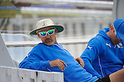 Yorkshire coach Jason Gillespie during the Specsavers County Champ Div 1 match between Somerset County Cricket Club and Yorkshire County Cricket Club at the County Ground, Taunton, United Kingdom on 16 May 2016. Photo by Graham Hunt.
