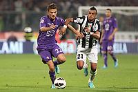 "Adam Ljajic Fiorentina Arturo Vidal Juventus<br /> Firenze 25/09/2012 Stadio ""Franchi""<br /> Football Calcio Serie A 2012/13<br /> Fiorentina v Juventus<br /> Foto Insidefoto Paolo Nucci"