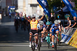 Coryn Rivera (USA) wins ahead of Lisa Brennauer (GER) in second at Lotto Thuringen Ladies Tour 2018 - Stage 3, a 131 km road race starting and finishing in Schleiz, Germany on May 30, 2018. Photo by Sean Robinson/Velofocus.com