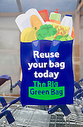 Tesco Green Bag Reuse scheme poster advert, UK