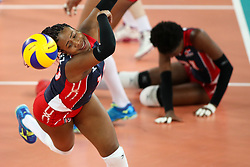 Caro Larysmer Martinez of Dominican Republic during the volleyball match between National team of Slovenia and Dominican Republic in Preliminary Round of Womens U23 World Championship 2017, on September 4, 2017 in SRC Stozice, Ljubljana, Slovenia. Photo by Morgan Kristan / Sportida