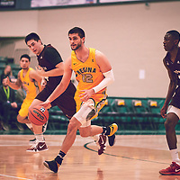 5th year forward, Kornel Tokolyi (12) of the Regina Cougars during the Men's Basketball Home Game on Fri Nov 30 at Centre for Kinesiology,Health and Sport. Credit: Arthur Ward/Arthur Images