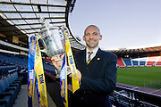 Cowdenbeath manager Colin Cameron pictured at Hampden Park after his side had been drawn at home to  Hibernian in the William Hill Scottish Cup 4th round draw. .- © David Young -.5 Foundry Place - .Monifieth - .Angus - .DD5 4BB - .Tel: 07765 252616 - .email: davidyoungphoto@gmail.com - .http://www.davidyoungphoto.co.uk