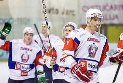 ZIGA PAVLIN of Slovenia after the Friendly Ice-hockey match between National teams of Slovenia and Austria on April 19, 2013 in Ice Arena Tabor, Maribor, Slovenia.  Slovenia defeated Austria 5-2. (Photo By Vid Ponikvar / Sportida)