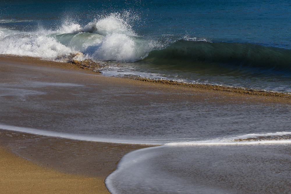 Waves breaking at Sand Beach, Acadia National Park, Maine