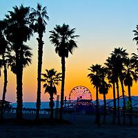 Santa Monica amid the sunset on Wednesday, May 1, 2013.