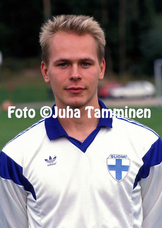 10.09.1990, Vierum?ki.Sami Yl?-Jussila - Finland U-21.©JUHA TAMMINEN