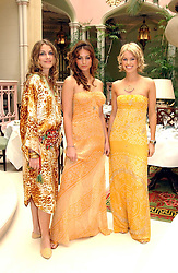 Left to right, LAURE DE CLERMONT-TONNERRE, SASKIA BOXFORD and CAROLINE HABIB at a fashion show of Sybil Stanislaus Summer 2005 collection with jewellery by Philippa Holland held at The Lanesborough Hotel, Hyde Park Corner, London on 13th April 2005.<br />