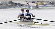 Eton, United Kingdom.  [left] and Bow, Cameron NICOL and Greg SEARLE during the morning time trial, 2011 GBRowing Trials, Dorney Lake. Saturday  16/04/2011  [Mandatory Credit; Peter Spurrier/Intersport-images] Venue For 2012 Olympic Regatta and Flat Water Canoe events.