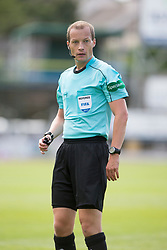 Ref Willie Collum. Dundee 1 v 2 Ross County, Scottish Premiership game played 5/8/2017 at Dundee's home ground Dens Park.