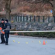 Kristiansand  20161127.<br /> En mann er d&oslash;d etter en skyting med politiet i Kristiansand natt til s&oslash;ndag.<br /> Foto: Tor Erik Schr&oslash;der / NTB scanpix