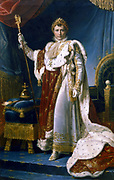 Napoleon I  Emperor of France'  Napoleon Bonaparte (1769-1821) in his coronation robes, 1804. Francoise Gerard (1770-1837) French painter. Musee National de Versailles, France.