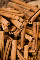 UAE, Dubai, cinnamon sticks for sale at the spice souq in Deira