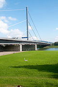 Voest bridge across the Danube River, Linz, Austria
