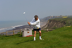 NORMANDY, FRANCE - MAY-01-2007 - David Sabbag of Australia, chips on to the green of the 6th hole at the Omaha Beach Golf Club - Course: La Mer (The Sea) - Hole 6 - 469 yards - Par 4.(Photo © Jock Fistick)