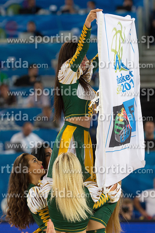 Klaipeda Cheerleaders from Lithuania during basketball match between national team of Slovenia and Italy of Eurobasket 2013 on September 12, 2013 in SRC Stozice, Ljubljana, Slovenia. (Photo By Matic Klansek Velej / Sportida.com)