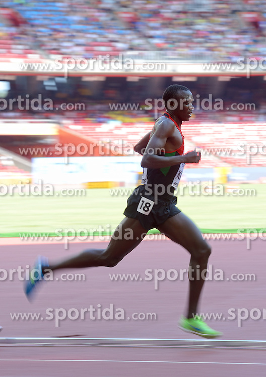 26-08-2015 CHN: IAAF World Championships Athletics day 5, Beijing<br /> Isiah Kiplangat Koech KEN during 5000 m<br /> Photo by Ronald Hoogendoorn / Sportida