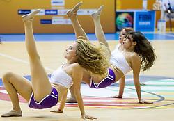 Cheerleaders Ladies perform during basketball match between National teams of Croatia and Georgia in Round 1 at Day 2 of Eurobasket 2013 on September 5, 2013 in Arena Zlatorog, Celje, Slovenia. (Photo by Vid Ponikvar / Sportida.com)