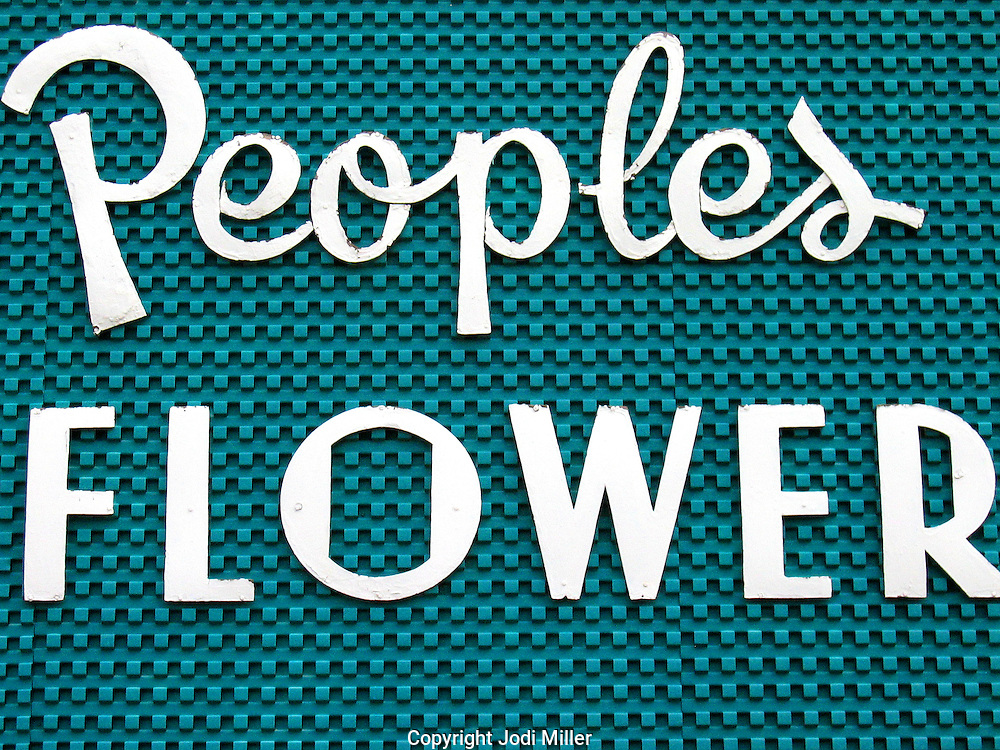A people's flower sign
