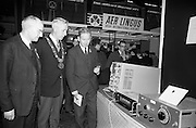 22/10/1963<br /> 10/22/1963<br /> 22 October 1963<br /> R.D.S. Scientific Exhibition opens, Ballsbridge, Dublin. Image shows (l-r): Professor Waldron, Trinity College Dublin; Alderman S. Moore, Lord Mayor of Dublin and Dr. Delaney Trinity College Dublin.