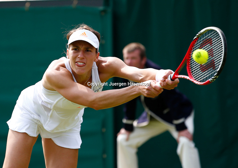 Wimbledon Championships 2013, AELTC,London,<br /> ITF Grand Slam Tennis Tournament,<br /> Andrea Petkovic (GER),Aktion,Einzelbild,Halbkoerper,Querformat,