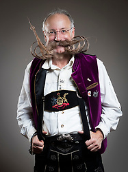 Juegen Burkardt attends the fourth British Beard and Moustache Championships at the Empress Ballroom, Winter Gardens, Blackpool.