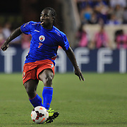 Jeff Louis, Haiti, in action during the Haiti V Honduras CONCACAF Gold Cup group B football match at Red Bull Arena, Harrison, New Jersey. USA. 8th July 2013. Photo Tim Clayton
