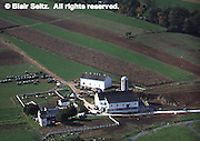 Lancaster Co. aerial photographs, farms with contour farming, Aerial Photograph Pennsylvania