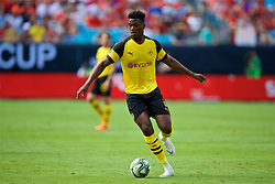 CHARLOTTE, USA - Sunday, July 22, 2018: Borussia Dortmund's Dan-Axel Zagadou during a preseason International Champions Cup match between Borussia Dortmund and Liverpool FC at the  Bank of America Stadium. (Pic by David Rawcliffe/Propaganda)