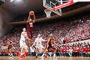 BLOOMINGTON, IN - JANUARY 12: Ralph Sampson III #50 of the Minnesota Golden Gophers grabs a rebound against the Indiana Hoosiers at Assembly Hall on January 12, 2012 in Bloomington, Indiana. Minnesota defeated Indiana 77-74. (Photo by Joe Robbins)