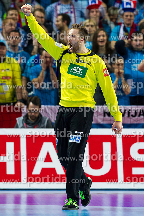 20.01.2016, Jahrhunderthalle, Breslau, POL, EHF Euro 2016, Deutschland vs Slowenien, Gruppe C, im Bild Andreas Wolff (Nr. 33, HSG Wetzlar) freut sich. // during the 2016 EHF Euro group C match between Germany and Slovenia at the Jahrhunderthalle in Breslau, Poland on 2016/01/20. EXPA Pictures &copy; 2016, PhotoCredit: EXPA/ Eibner-Pressefoto/ <br /> <br /> *****ATTENTION - OUT of GER*****