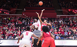 The Rutgers Scarlet Knights take on the Ohio State Buckeyes at the RAC on Sunday February 27, 2017.<br /> (Ben Solomon/Rutgers Athletics)