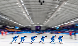 05.02.2018, Gangneung Oval, Gangneung, KOR, PyeongChang 2018, Eisschnelllauf, Training, im Bild Team Süd Korea // Team South Korea during a practice session in speed skating ahead of the opening of the Pyeongchang 2018 Winter Olympic Games at the Gangneung Oval in Gangneung, South Korea on 2018/02/05. EXPA Pictures © 2018, PhotoCredit: EXPA/ Johann Groder
