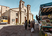 GANGI, SICILY, fruit and vegetables seller  Chiesa di San Paolo