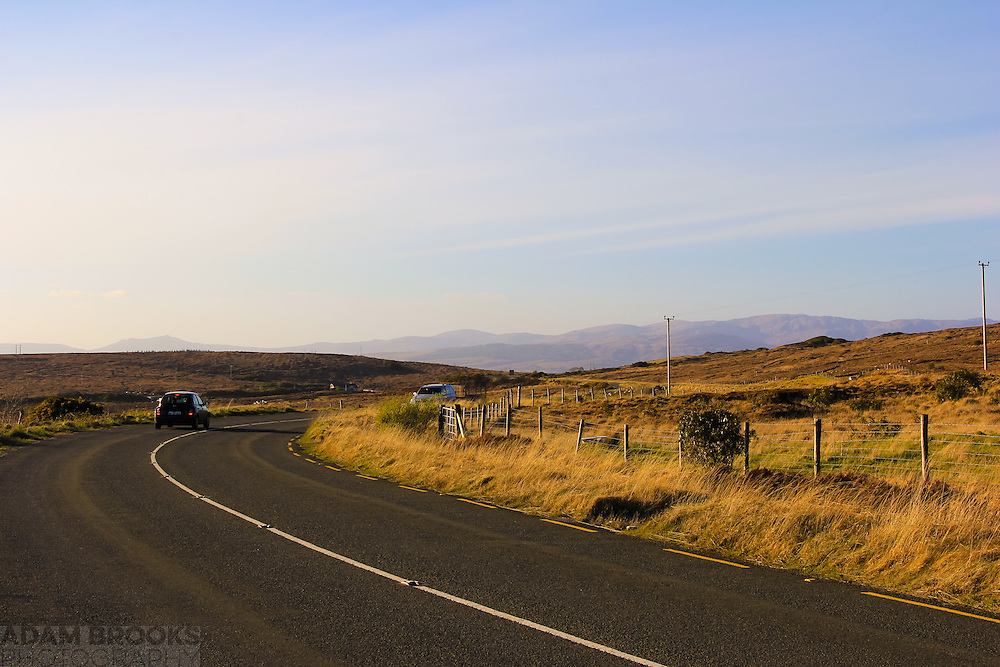 View along the R232 near Laghey towards Donegal