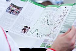 Brochure at press conference before 13th Marathon in Ljubljana 2008,  on October 14, 2008, in Ljubljana, Slovenia.  (Photo by Vid Ponikvar / Sportal Images)